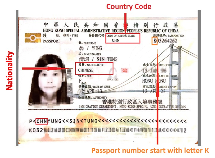 Hong Kong passport nationality